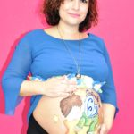 belly painting in studio Roma