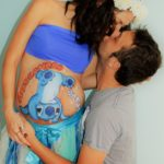 Belly painting organizzato dal papà